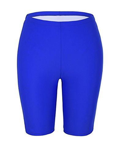 Firpearl Women UV Sport Board Shorts Swimsuit Bottom Capris US12 Roral Blue (Womens Above Board)