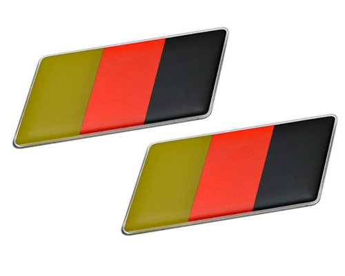 2 x (Pair/Set of 2) GERMAN GERMANY FLAG Emblem Badge Nameplate Decal Rare for Audi A1 A2 A3 S3 RS3 A4 S4 RS4 A5 S5 RS5 A6 S6 RS6 Allroad A7 U2123 A8 S8 Q5 Q7 Quattro Coupe GT R8 GT TT TTS V8 50 72 75 80 90 S2 RS2 Cabriolet 100 200 5000 4000CS European Euro