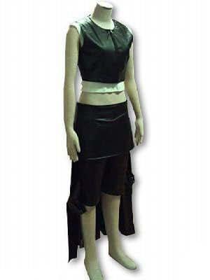 Japanese Anime Final Fantasy VII Cosplay Costume - Tifa Lockhart Leatherette Outfit