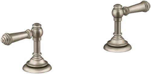 (KOHLER K-98068-4-BV Artifacts Bathroom sink lever handles, Less Spout, Vibrant Brushed Bronze)