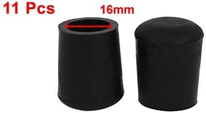 Embouts Patins Pieds de chaise en forme de c/ône en caoutchouc housses 16mm Dia.11pcs