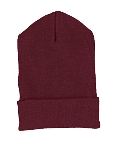 Knit Yupoong Cuffed (Yupoong Cuffed Knit Cap (1501)- Maroon,One Size)