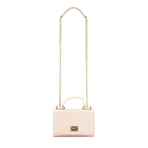 barbie BBFB227 bolso bandolera para mujeres bolso para fiestas de simple estilo moderno y dulce rosa suave