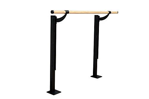 - Vita Vibe Ballet Barre - FS72-W Traditional Wood 6ft. Single Adjustable Height Floor Mount Ballet Bar - Stretch/Dance Bar - Vita Vibe - USA Made