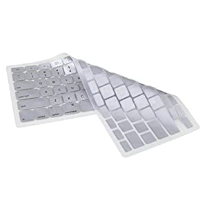 Waterproof Silicone Keyboard Cover for MacBook Pro (Silver)