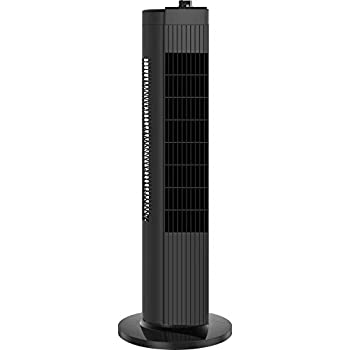 PELONIS FZ10-19MB Quiet Tower Fan, 3 Speeds,60° Oscillation for Home and Office, Black, 28-Inch, 28 Inch Compact