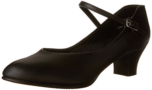 Capezio Women's Jr. Footlight Character Shoe,Black,9.5 M US