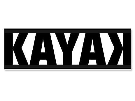 Black and white kayak w backward k bumper sticker kayaking yak