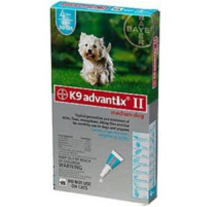 Bayer Advantix II, Medium Dogs, 11 ro 20-Pound, 6-Month
