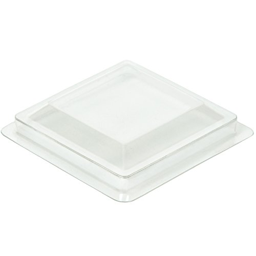 DLux Lids for 2 oz Square Short Mini Serving Cups [50 Count, Clear Plastic]