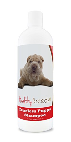Healthy Breeds Tearless Puppy Shampoo for Chinese Shar Pei - OVER 100 BREEDS - Nourishes & Moisturizes for Growth - Safe with Flea and Tick Topicals - 16 oz