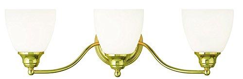 Livex Lighting 13673-02 Somerville 3-Light Bath Light, Polished - Three Light Vanity Polished Brass