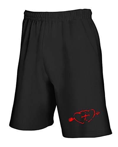 T0245 Valentino shirtshock Nero San Tuta Pantaloncini T wnC6RBvqx