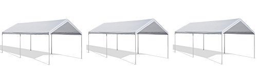Caravan Canopy 10 X 20-Feet Domain Carport, White (3 PACK) by Caravan Canopy