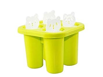 Moldes de alimentos Moldes de paletas de Panda 3D Bandeja de Helado de panales de Hielo plásticos (Azul Cielo) (Color : Grass-Green, tamaño : 11x11x8cm): ...