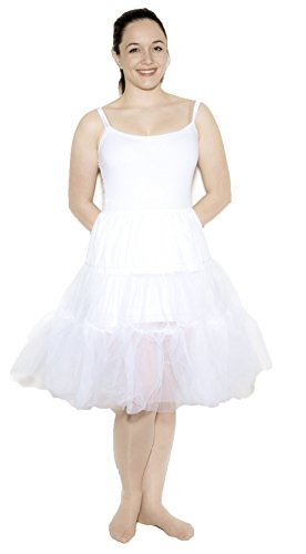 White Crinoline Slip size Adult Plus / XL by Hey Viv !