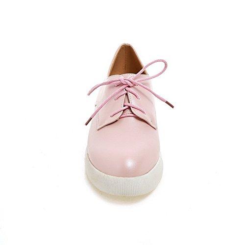 Balamasa Girls American Muffin Buttom Scarpe Stringate In Pelle Imitazione Rosa