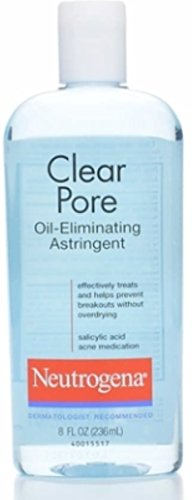 Neutrogena Clear Pore Oil-Eliminating Astringent 8 oz (Pack of 4)