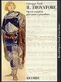 IL TROVATORE VOCAL SCORE     PAPER ITALIAN NEW ART COVER