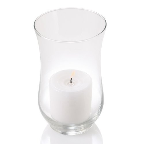 Glass Adena Hurricane Candle Holders - Small - Set of 4
