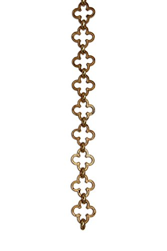 (RCH Hardware Decorative Polished Solid Brass Chain for Hanging, Lighting - Cross Clover Design Unwelded Links (1)