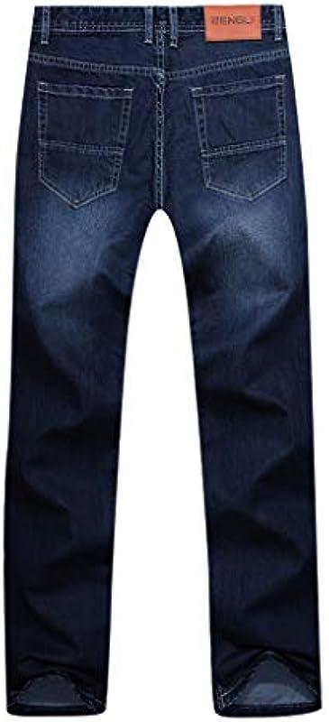 EUZeo Męskie Jeans Hose Straight Męskiehose Męskiejeans Lose Jeanshose Texas Stretch Denim Jeanshosen Pants: Sport & Freizeit