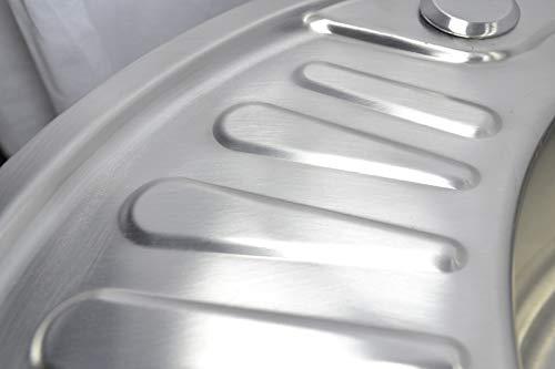 desag/üe peque/ño L 4 cm B 1 fregadero de cocina 46 cm cuadrado fregadero empotrado 1 fregadero de acero inoxidable 304