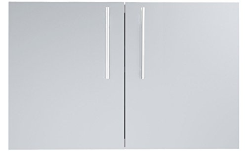 SUNSTONE DE-DD42 Designer Series Raised Style Double Door with Shelves, 42'', Stainless Steel by SUNSTONE
