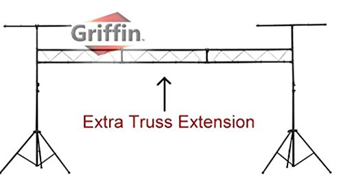 DJ Light Truss Stand System by Griffin|I-Beam Trussing Equipment Set|Hanging Mount Lighting Package for Music Gear, PA Speakers, Can Lights|T-Bar and Extra Truss Extension for Audio Stage Performance by Griffin