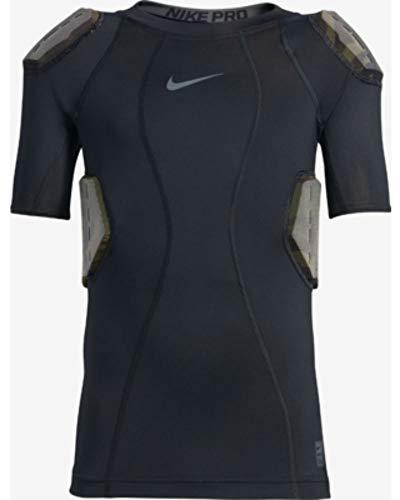Nike Youth Integrated Football Pants - Nike Youth Pro Combat Hyperstrong 4-Pad Camo Football Shirt, (Black/Dark Grey, M)