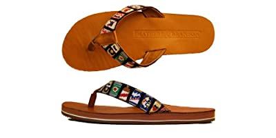 Smathers & Branson Handstiched Needlepoint Men's Flip Flop Sandals