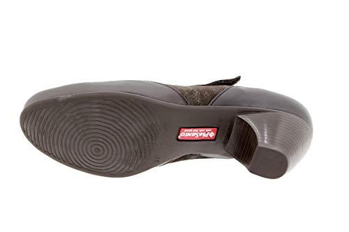 Cómodo Calzado Zapato Ancho 9407 Piel Mujer Caoba De Confort Mary Casual Piesanto jean Hqx6fvHrw