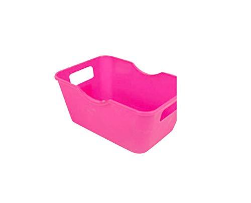 Makeup Organizer Cosmetic Organizers Box Plastic Office Desktop Storage Boxes Storage Box Organizer,M,Hot Pink,C