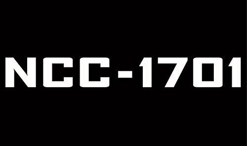 (Cove Signs Star Trek - NCC-1701 Die Cut Premium Vinyl Decal - White 8