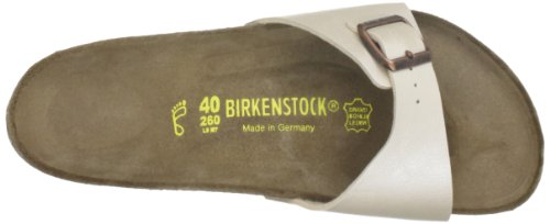 Birkenstock - Sandali Madrid 97, Donna, Bianco (Graceful Pearl White)), 42