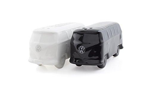 (BRISA VW Collection VW T1 Bus 3D Salt & Pepper Shakers - White/Black)