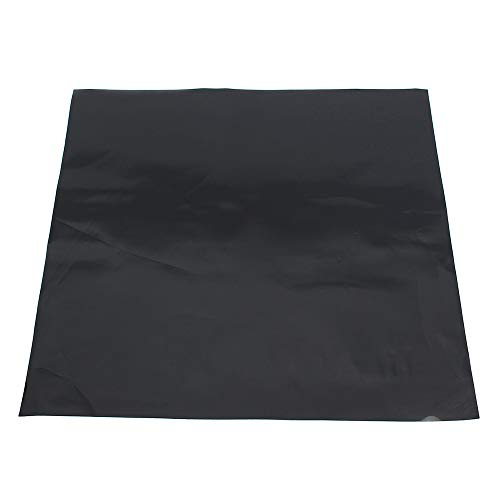 LTKJ 12''X12'' Black Silicone Rubber Sheet Self Adhesive High Temp Resistance Plate Mat(Thick 1MM) ()