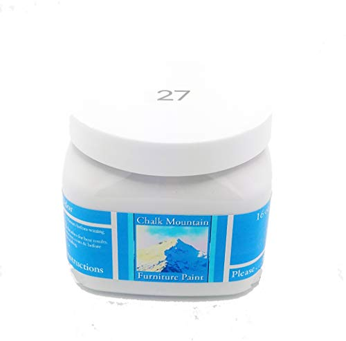 Chalk Mountain Supply Quality Chalk Furniture Paint- NON TOXIC-SAFE TO USE INDOORS- Superior Coverage-LOW ODOR & ZERO VOC (16oz) #27 ()