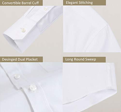 diig Men Dress Shirt White 14.5 by diig (Image #3)
