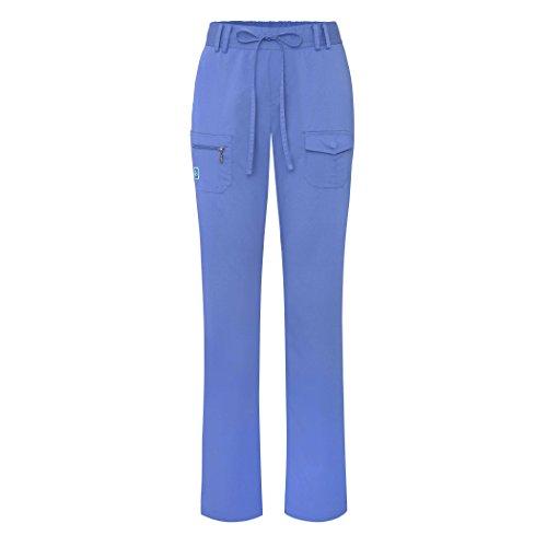 Adar Indulgence Jr. Fit Women's Scrub Set - Enhanced V-Neck Top/Multi Pocket Pants - 4400 - Ceil Blue - S by ADAR UNIFORMS (Image #2)