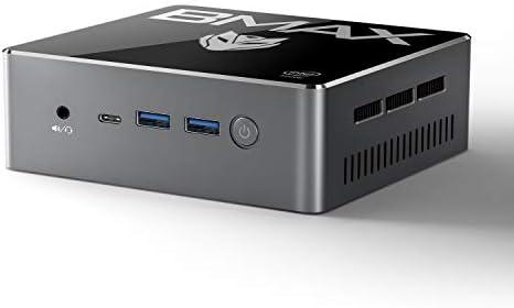 Mini PC, BMAX Intel Core i5 Processor Windows 10 Mini Desktop Computer, 8GB RAM 256GB SSD, Supports 4K 60Hz Mini DP/Type C & 4K 30Hz HDMI/4 USB Ports/Dual WiFi /BT4.2