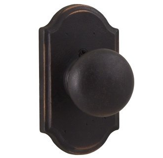 Weslock 7105F-1 Oil Rubbed Bronze Wexford Dummy Knob with Premiere Rosette