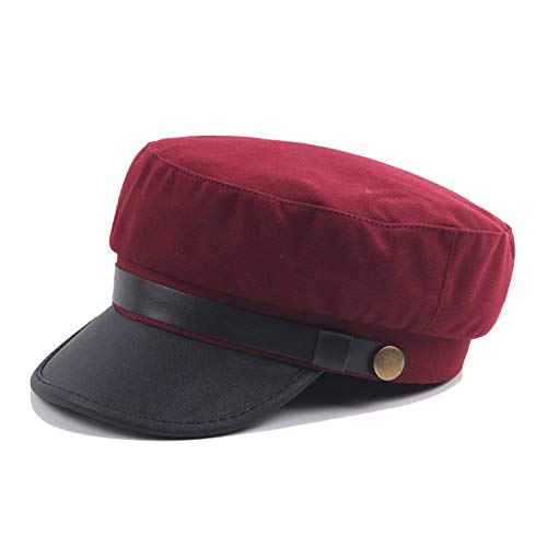Women Men Brim Cotton Knitted Cap Black Bone Female Vintage Gorra Militar Caps