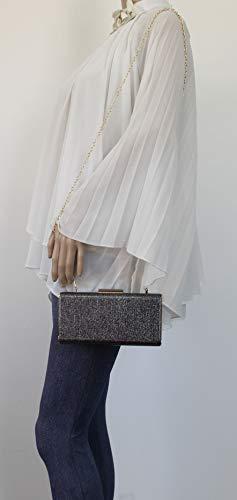 Prom Sparkle Womens Melissa Grey Bag Clutch Box Party SWANKYSWANS ITHqwFx