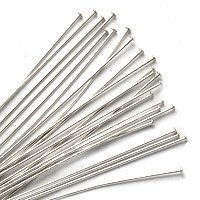 FindingKing Sterling Silver Head Pins 24 Ga. 2 Inches -