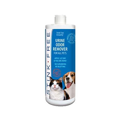 STINK FREE Instantly Pet Urine Odor Remover - Cleaner, Neutralizer, & Eliminator of Cat & Dog Pee Odor on Carpets, Rugs, Outdoor Rugs, Mattress, Floor, Etc. 32 oz. (1 Quart)