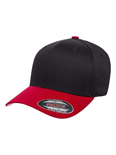 Flexfit - Cotton Blend Cap - 6277 - S/M - Black/Red ()