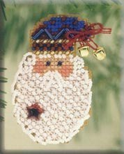 Kris Kringle Beaded Counted Cross Stitch Ornament Kit Mill Hill 2001 Winter Holiday H97 ()