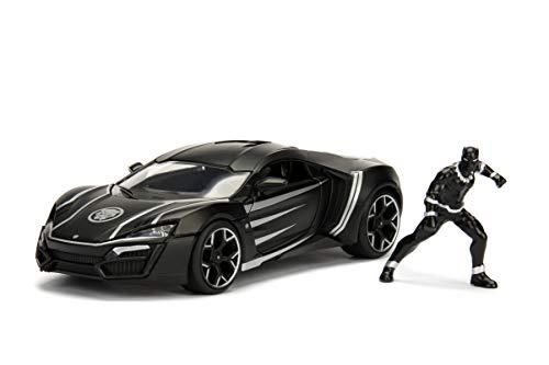 Jada Toys Marvel Black Panther & W Motors Lykan Hypersport DIE-CAST Car, 1: 24 Scale Vehicle & 2.75