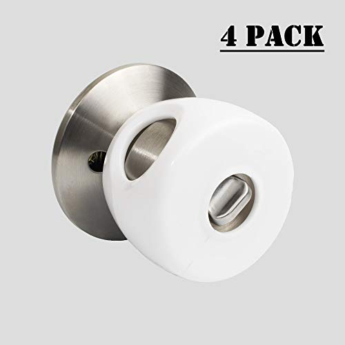 Door Knob Baby Safety Cover, Deter Kids From Opening Doors With Child Proof Handle Locks, 4 ()